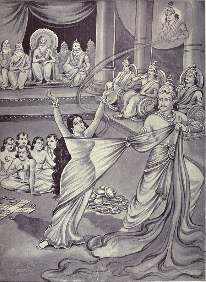 draupadi and pandavas essay The word pandava is derived from their father's name, pandu (sanskrit: पाण्डु) so the five pandavas and draupadi left to the path of liberation.
